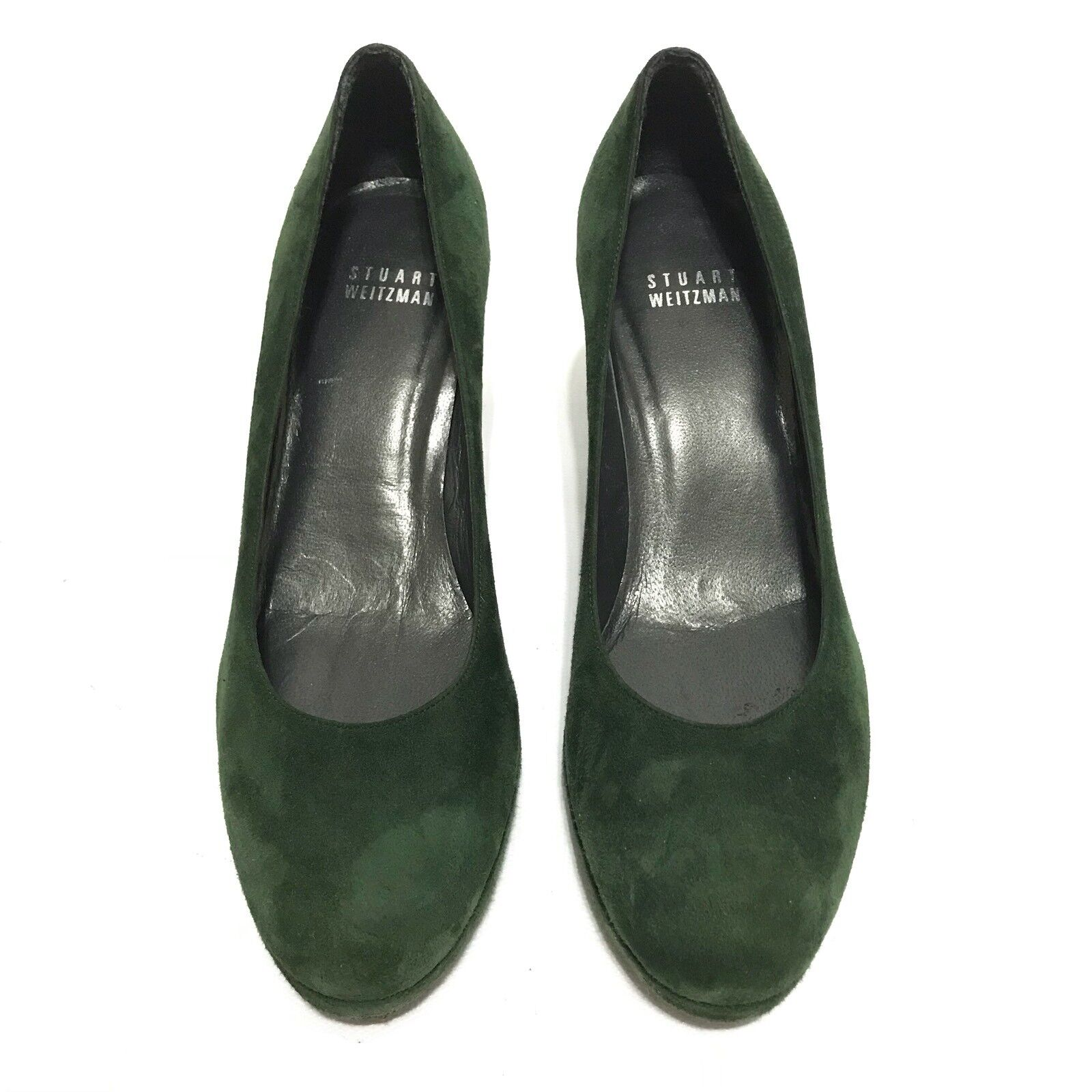 Stuart Weitzman Womens shoes Size Size Size 6 Heel Green Suede Office Career Wear Dressy 2c77bb