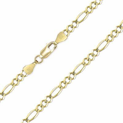 """Polished Link Women Men 10K Solid White Gold Box Necklace Chain 0.8mm 16-24/"""""""