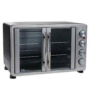 Elite-Bistro-45-Liter-French-Door-Oven-with-Rotisserie-and-Recipes