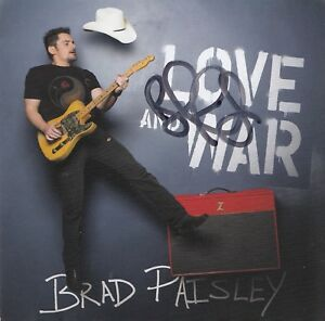BRAD-PAISLEY-signes-LOVE-AND-WAR-Brand-New-COUNTRY-CD-W-COA-Autographed