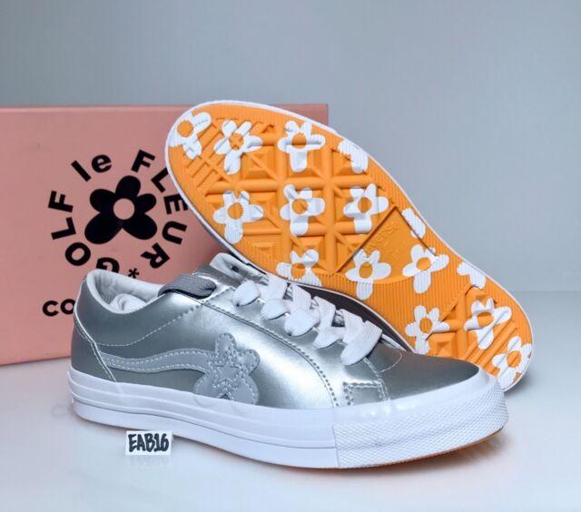 Converse One Star x Golf Wang Le Fleur 3m Metallic Silber Tyler The Creator DSM