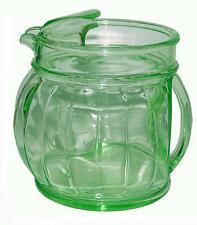 Jenkins Depression Glass Rarely Found Green Ice Lip Kitchen Pitcher / Jug