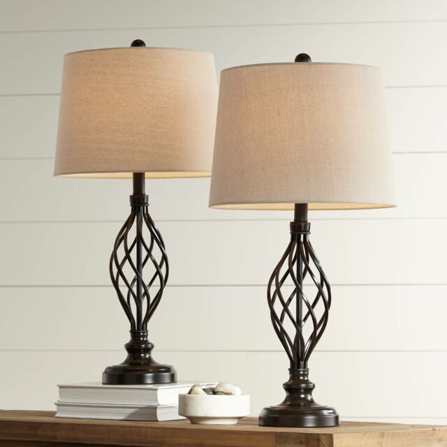 Table Lamps Set Of 2 Iron Works Bronze