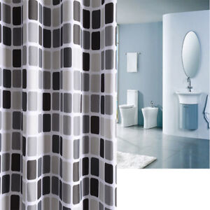 Image Is Loading Waterline Fabric Shower Curtain Mosaic Extra Long Wide