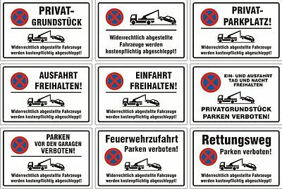 3253 Parkverbotsschild Privatgrundstück Parkverbot Parkplatz Hinweisschild Nr