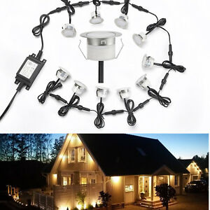 45-mm-12-V-1-W-DEL-Deck-Lights-Outdoor-Garden-Yard-Path-Stair-Step-Patio-Lampe-IP67