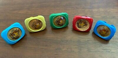 Lot Of 5 TOY RINGS Borden ELSIE the COW Premium Plastic Vintage 1950s
