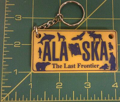 Alaska Themed Keychain - State license plate style - Last ones! New Unused