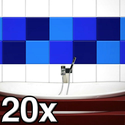 20 Stück in 20 x 20 cm FLIESENAUFKLEBER Fliesendekor Fliesen Aufkleber Dusche