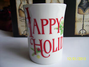 Happy holidays otagiri white gold rim mug design by gibson greeting image is loading 034 happy holidays 034 otagiri white gold rim m4hsunfo Choice Image