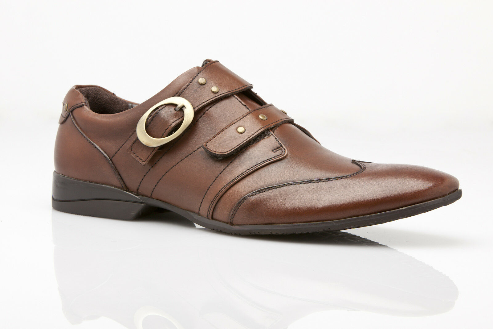 NEW MENS ZASEL AUSTRALIAN DESIGN DRESS BROWN CASUAL FORMAL LEATHER SHOES SLIP ON SHOES LEATHER b66e52