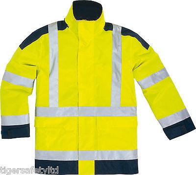 Delta Plus Panoply Optimum High Visibility Hi Viz Waterproof Jacket Bodywarmer