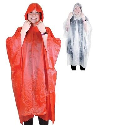 Lightweight Poncho Raincoat Rain Water Festival Camping Hooded Cape Ground PVC