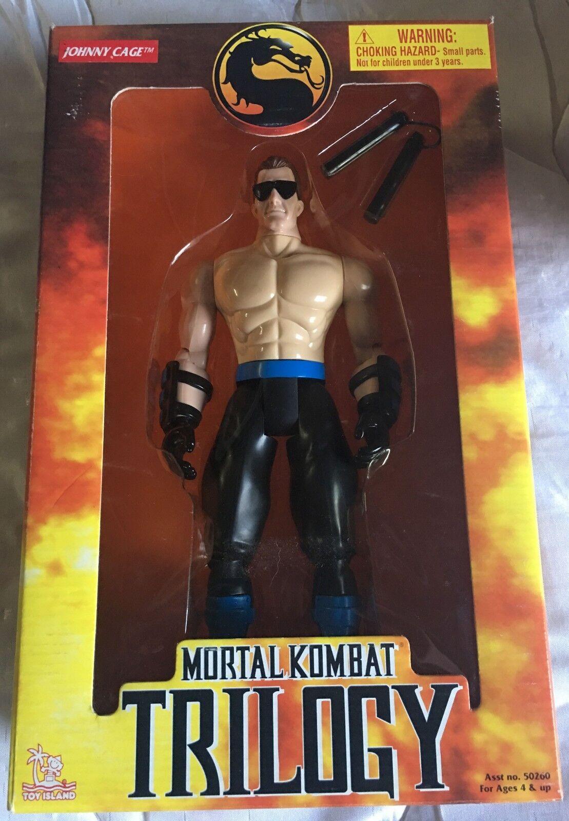 Mortal Kombat Trilogie: Johnny Cage 25.4cm Actionfigur Toy Island 1998 - Neu