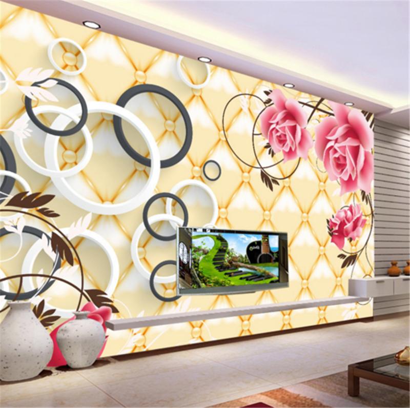 3D Lingge Flower Ring 837 Wallpaper Mural Paper Wall Print Wallpaper Murals UK
