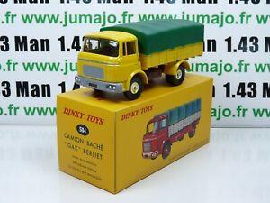 DT74E-Voiture-1-43-reedition-DINKY-TOYS-atlas-584-camion-Berliet-GAK-bache