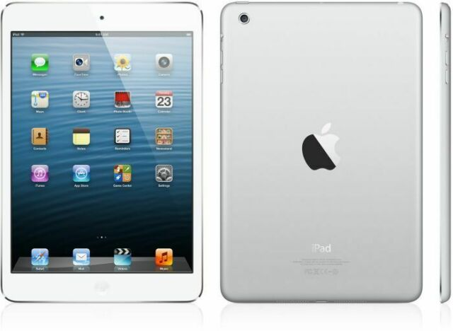 Apple iPad mini 16GB Tablet 7.9 Zoll LTE + WiFi White & Silver (MD543FD/A)