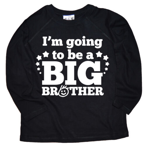 """DIRTY FINGERS Boy Maglia a maniche lunghe Tee T-shirt /""""sono in procinto di essere un grande fratello/"""""""