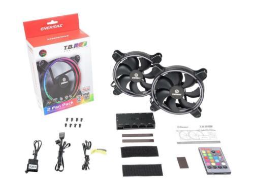 2-Pack ENERMAX T.B RGB 14CM UCTBRGB14-BP2 140mm RGB LED 140mm Case Fan