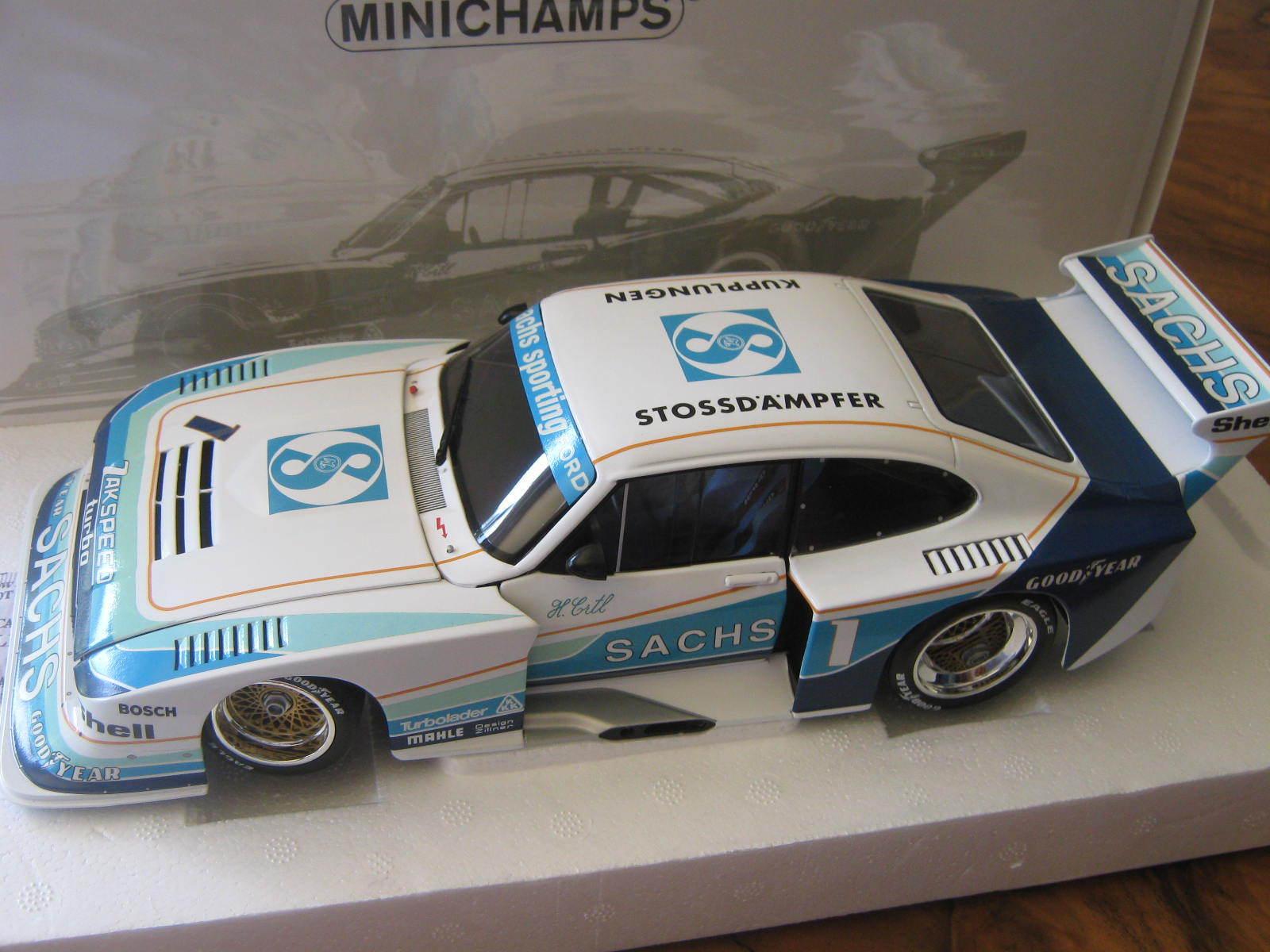 1 18 Ford Capri turbo taille 5 'sachs' h. ERTL DRM 1979 Minichamps 100798601 OVP NOUVEAU