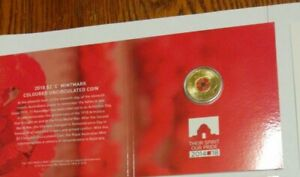 Aust-2018-2-Red-Poppy-Remembrance-Day-Armistice-C-mintmark-coin-in-Card-Folder