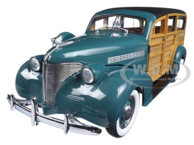 1939 Chevrolet Woody Station Wagon Yosemite vert 1 18 voiture modèle par SUNSTAR 6171