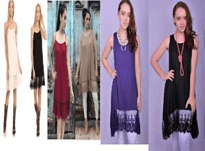 52f31377b NEW REG   PLUS LONG TANK SLIP Camisole Dress Extender VINTAGE Lace ...