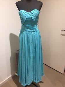 Details about Tiffany Blue Midi Dress Size 6