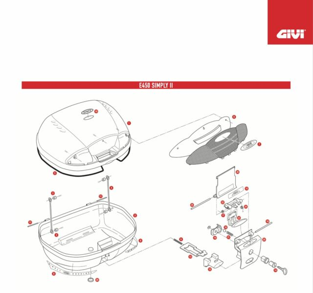 Z115R REPLACEMENT WIRES OPENING for GIVI E450 SIMPLY II