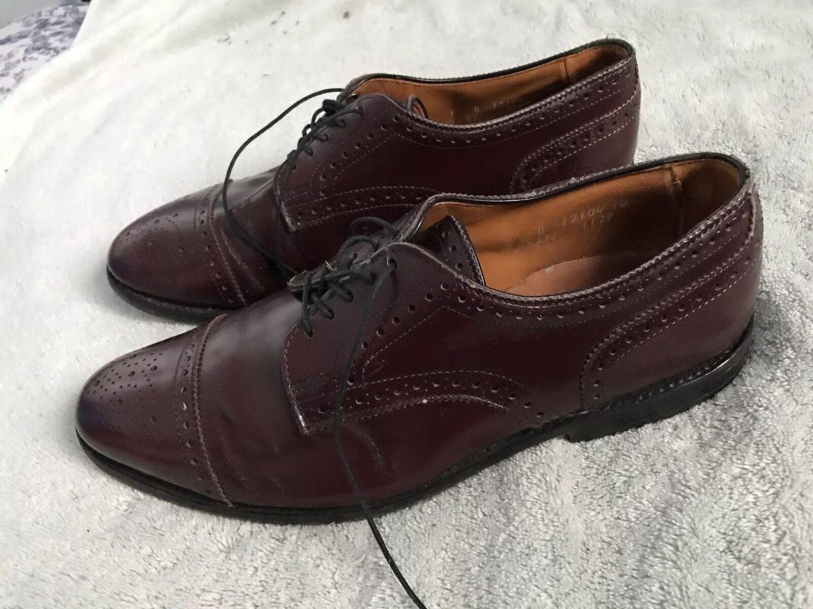 Allen Edmonds Sanford Wing Tips Marroneee  Leather scarpe Mens Sz 9 SC8