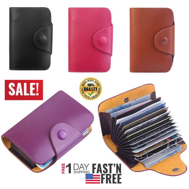 RFID Genuine Leather Wallet Credit Card Cash Holder ID Safe Pocket Purse Gift