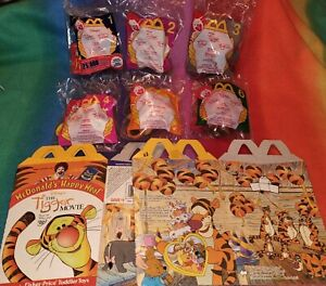 2000 The Tigger Movie McDonald's Happy Meal Toys Complete set  6 Sealed 6 boxes