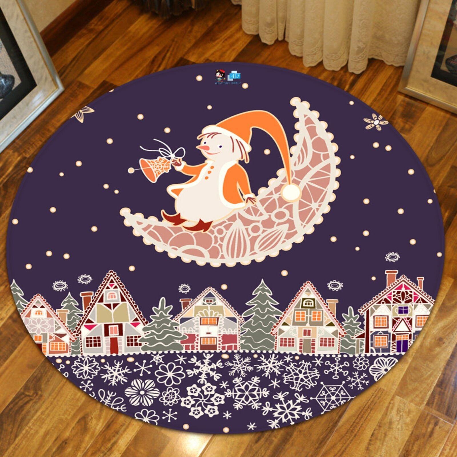 3D Christmas Xmas 521 Non Slip Rug Mat Room Mat Round Elegant Photo Carpet AU