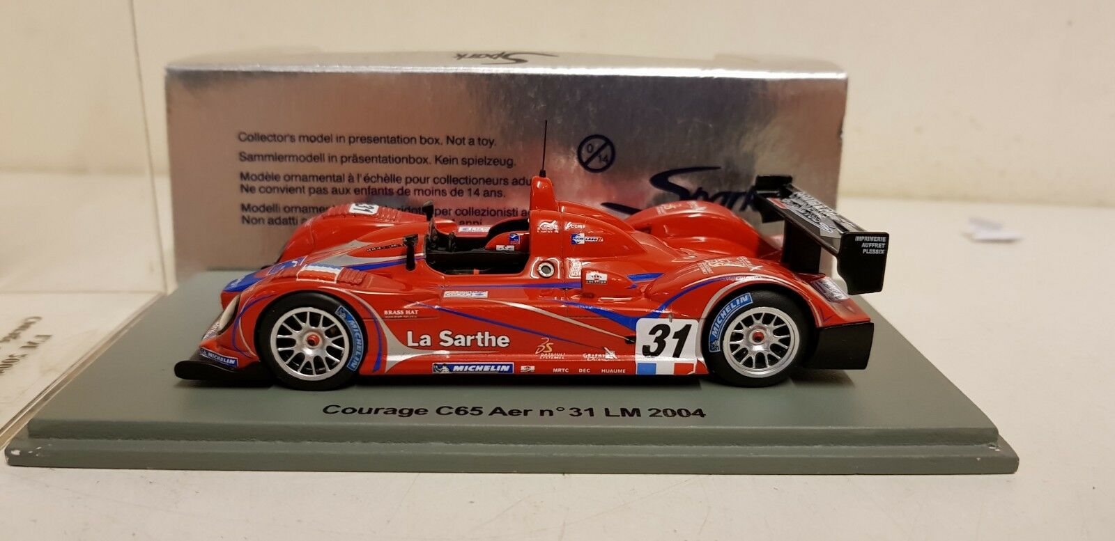 SPARK - COURAGE C65 AER LEMANS 2004 1 43 SCALE S0424
