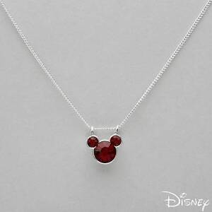 4b09ab61e Image is loading DISNEY-Mickey-Mouse-Necklace-W-Genuine-Crystal-Crafted-