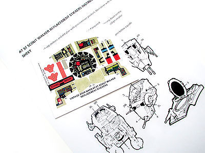 VINTAGE STAR WARS AT-ST SCOUT WALKER REPLACEMENT STICKERS SHEET