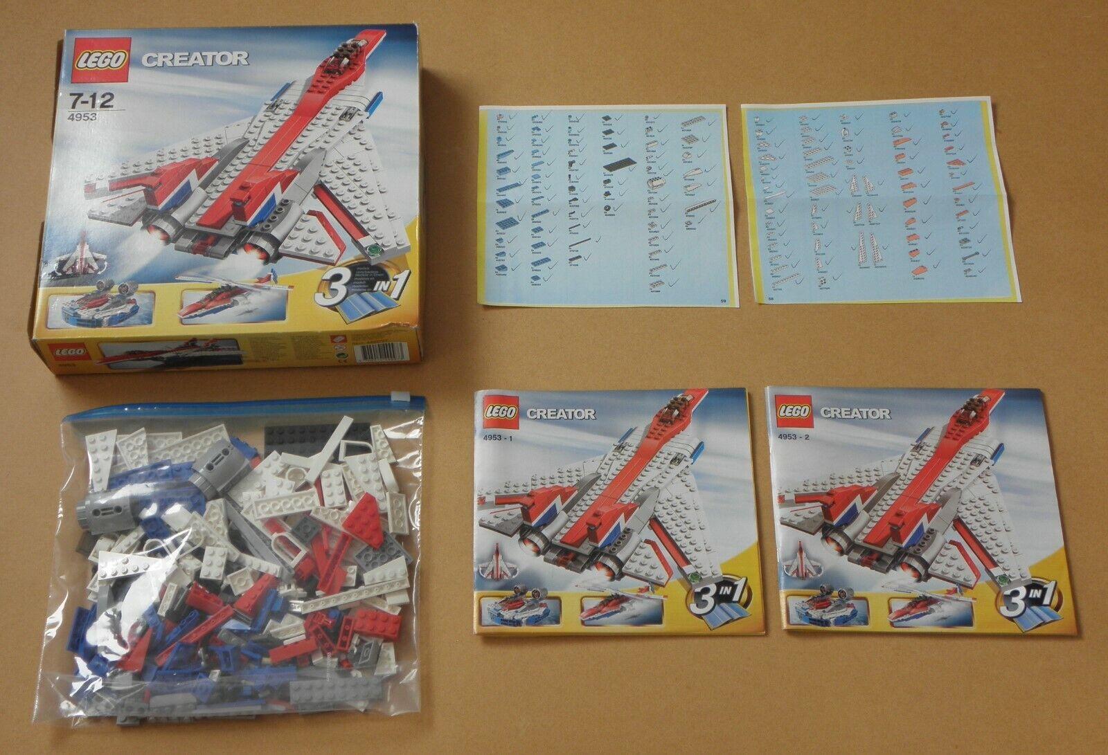 Lego 4953 FLINKE FLIEGER Flugzeug LuftkissenStiefel Hubschrauber 100% KOMPLETT OVP