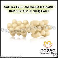Natura Ekos Andiroba 2 Massage Bar Soaps Of 100g Each