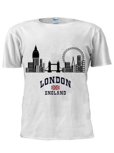 LONDON ENGLAND TRENDY T-Shirt Vest Tank Top Men Women Unisex Tshirt M193