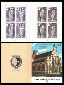 STAMPS-France-Carnet-CROIX-ROUGE-1976-NEUF-LUXE