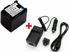 BP-819 Battery & Charger For Canon Legria FS37 VIXIA HG21 HF M301 HFS100 HF-G10