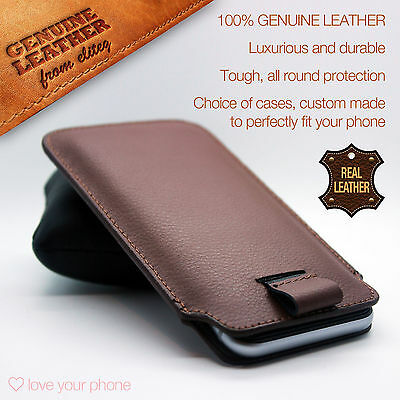 Cell Phones & Accessories Realistic Genuine Premium Leather Luxury Pull Tab Flip Pouch Sleeve Phone Case Cover✔brown An Indispensable Sovereign Remedy For Home