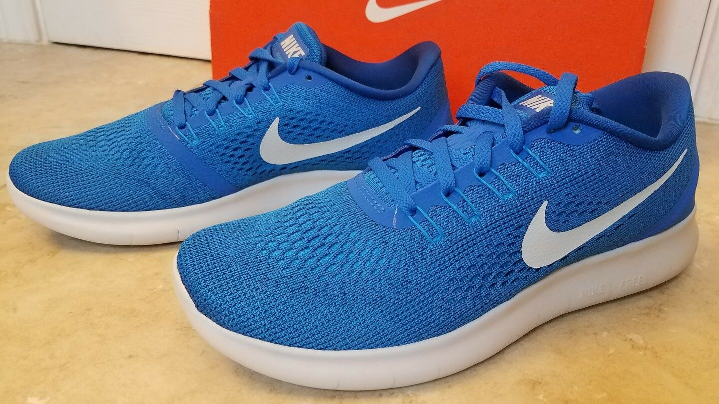 New Nike Men Free RN Athletic Training shoes Running Sneakers bluee 8