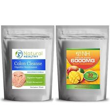 Detox Max Colon Cleanse + African Mango 6000MG Weight Loss - slimming diet pills