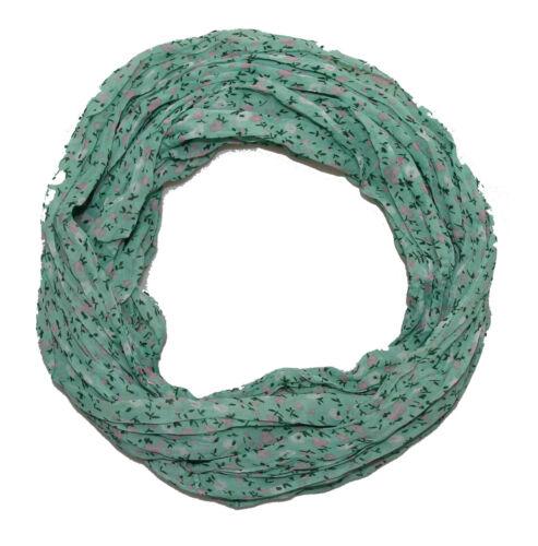 FIORELLINI donna Loopschal con Seta /& Cotone Mint Loop Scialle