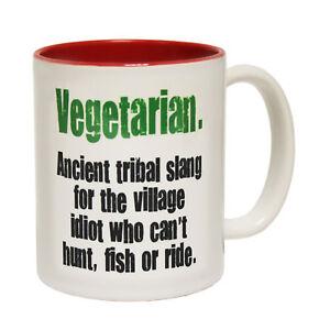 Image Is Loading Funny Mugs Vegetarian Tribal Slang Joke Gift Birthday