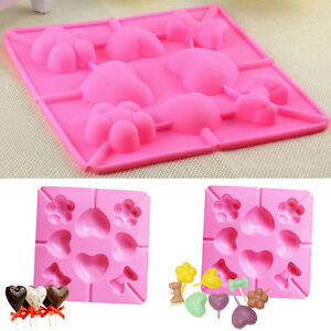 Pop-Mould-Cake-Lollipop-Silicone-Cookie-DIY-Mold-Fondant-Tray-Sugarcraft
