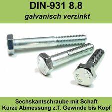 DIN 931 8.8 M14 x 80 verzinkt 5 Stk Sechskantschraube mit Schaft