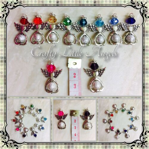 Large Multicolore Angel Charms Pack de 10