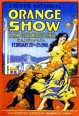 1918 8th National Orange Show San Bernardino California Advertisement Poster